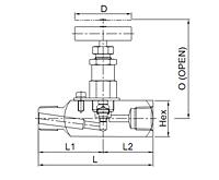 V46A Series Hex. Body Needle Valves