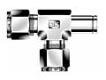DTRA Run Tee Adapter Tube Fittings Metric