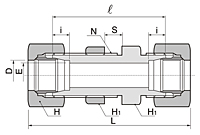 BBU Series Metric Straight Bulkhead Union Fittings