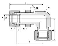 BBL Series Metric Bulkhead Elbow Fittings