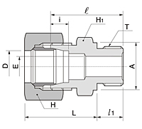BOM Series Metric Male Connector Fittings