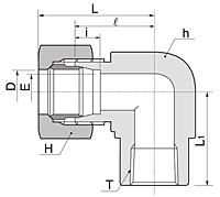 BLF Series Metric Female Elbow Fittings