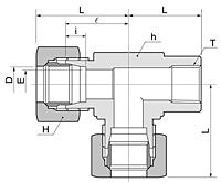 BRTF Series Metric Female Run Tee Fittings