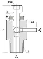 BAP-2 Series Metric Air Purge Valves (Thread End)